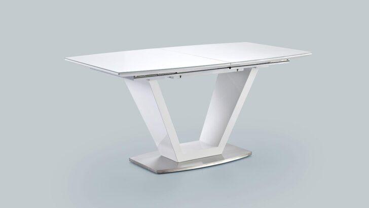 Medium Size of Esstisch Weiß Oval Ilko Tisch Wei Hochglanz Lack Mit Synchronauszug Klein Regal Bett Schubladen Bad Hochschrank Stühle Pendelleuchte Groß Akazie 90x200 Esstische Esstisch Weiß Oval