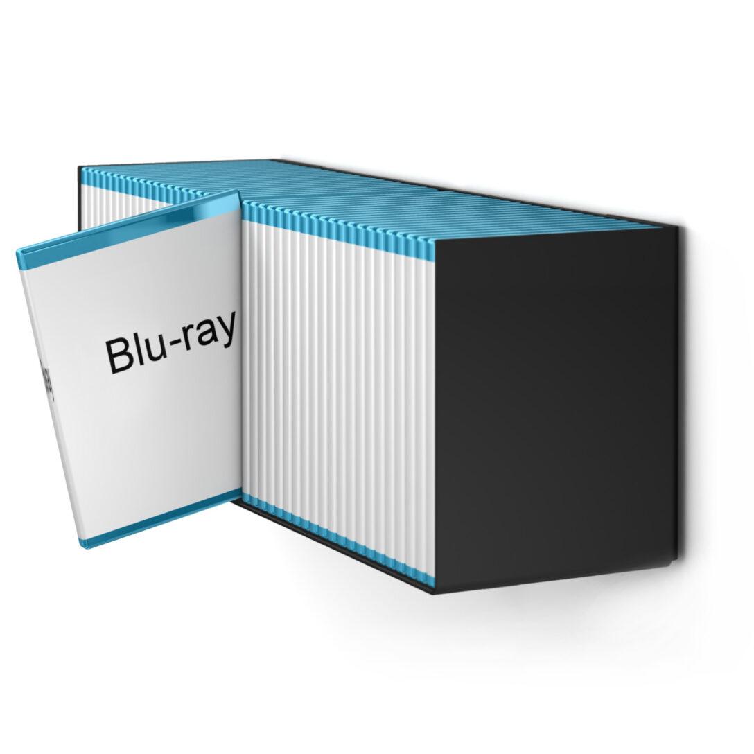 Large Size of Home3000 Blu Ray Designregal In Schwarz Paletten Regal Wildeiche Nach Maß Günstig Cd Holz Schmal Badezimmer Kiefer Tisch Kombination Naturholz Regale Offenes Regal Blu Ray Regal