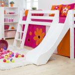 Kinderbett Mädchen Hochbett Mit Rutsche Fr Mdchen Kaufen Kids Royality Bett Betten Wohnzimmer Kinderbett Mädchen