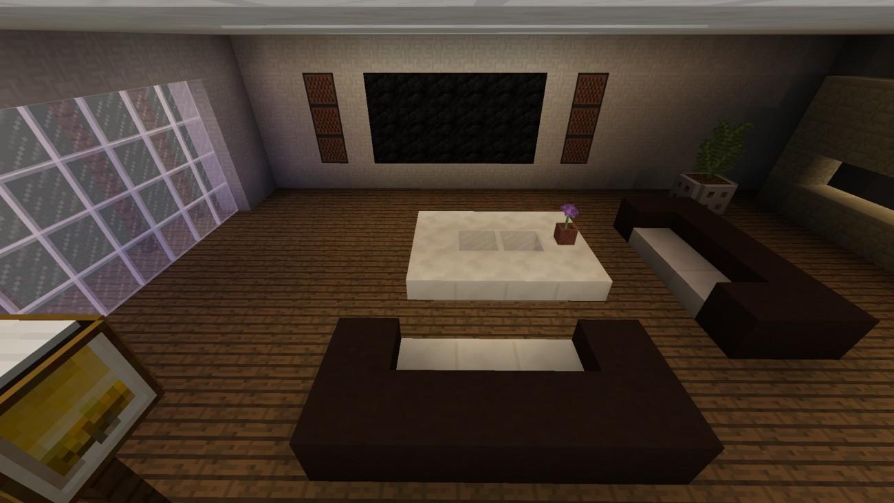Full Size of Moderne Wohnzimmer Modernes In Minecraft Bauen Bauideende Teppich Fototapete Decke Deckenlampen Modern Sessel Kamin Beleuchtung Tapeten Ideen Deckenlampe Lampe Wohnzimmer Moderne Wohnzimmer