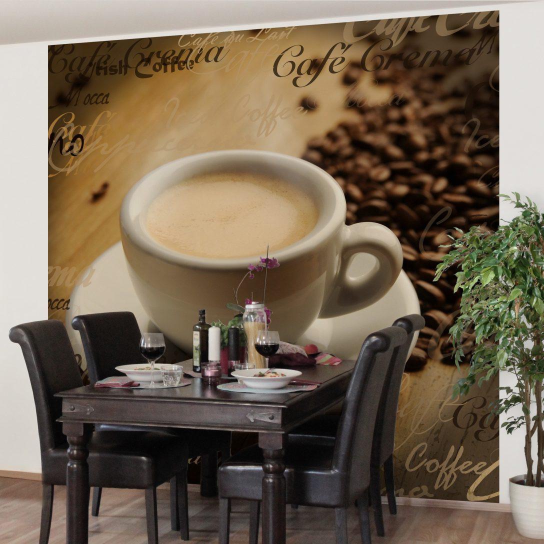 Large Size of Vliestapete Kchentapete Nocg76 Coffee Scents Fototapete Quadrat Wohnzimmer Küchentapete