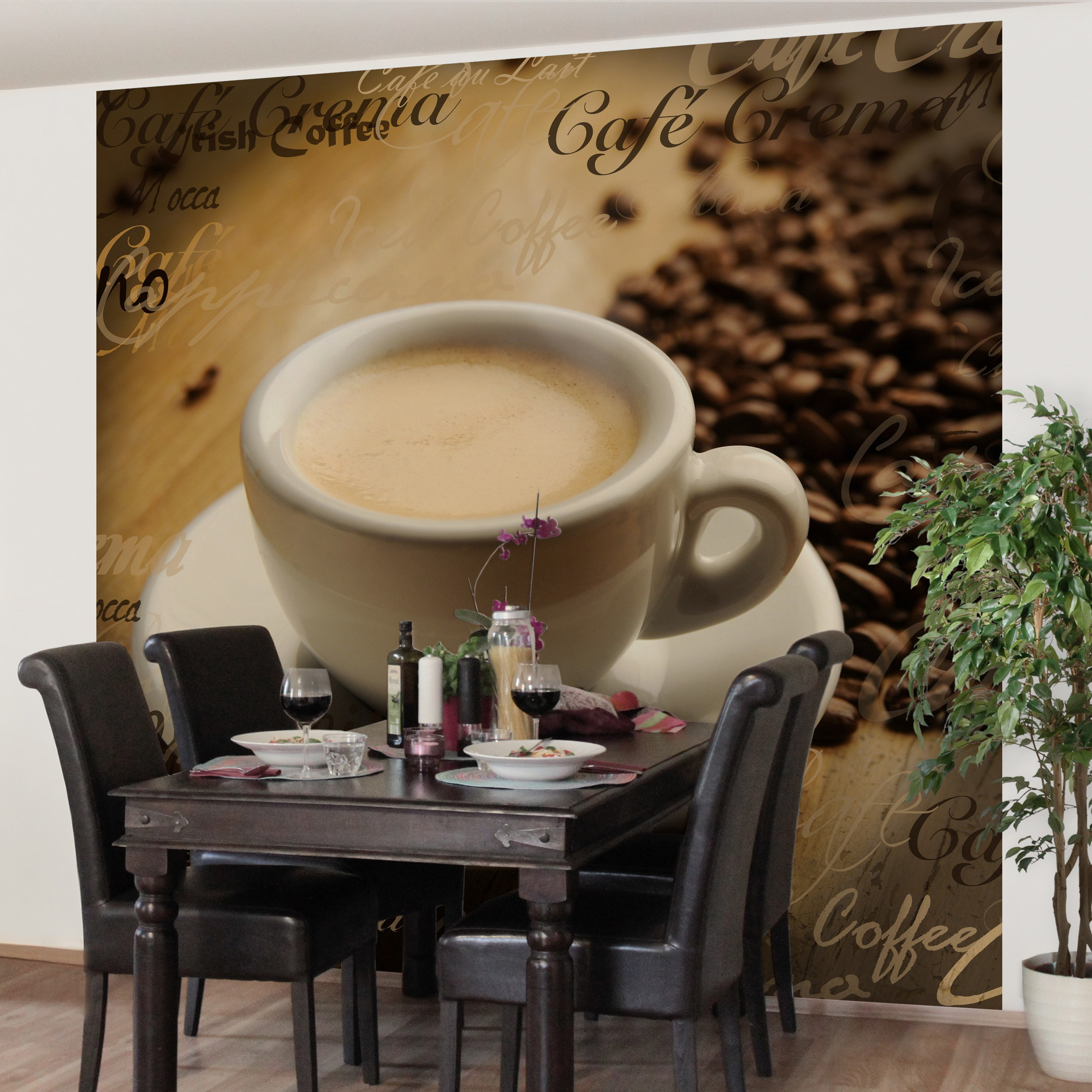 Full Size of Vliestapete Kchentapete Nocg76 Coffee Scents Fototapete Quadrat Wohnzimmer Küchentapete