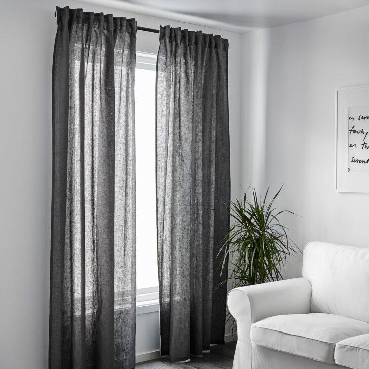 Medium Size of Ikea Gardinen Vorhaenge Dunkelgrau Sanela Gardine 2 Vorhnge Samt Grau Betten Bei Für Schlafzimmer Sofa Mit Schlaffunktion Fenster Miniküche Küche Wohnzimmer Wohnzimmer Ikea Gardinen