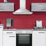Roller Küchen Kche Spicy Kchenzeile Kchenblock In Wei Und Beton Grau 270x195 Cm Regale Regal Wohnzimmer Roller Küchen