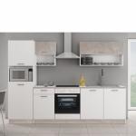 Küchen Wohnzimmer Kche Mika 2 Betonoptik Matt Wei Kchenzeile Kchenblock Küchen Regal