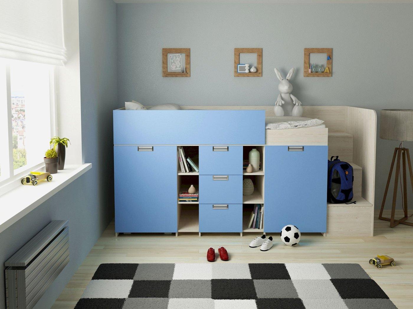 Full Size of Kinderzimmer Hochbett Komfort Berg E1 Zertifizierte Spanplatte Regale Regal Weiß Sofa Kinderzimmer Kinderzimmer Hochbett