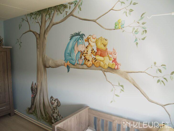 Medium Size of Wandbild Kinderzimmer Poeh Muurschildering Babykamer Boom Hondjes Wandbilder Wohnzimmer Regal Sofa Schlafzimmer Weiß Regale Kinderzimmer Wandbild Kinderzimmer