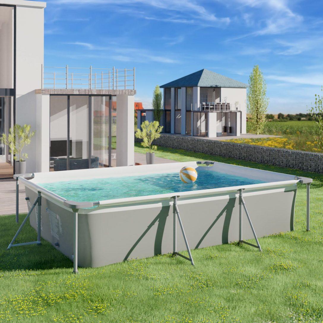 Full Size of Gartenpool Rechteckig Garten Pool Guenstig Kaufen Swimming Mit Filterpumpe Wohnzimmer Gartenpool Rechteckig