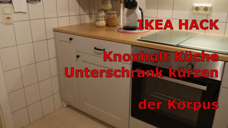 Medium Size of Ikea Hack Knoxhult Kche Unterschrank Krzen Der Korpus Youtube Vinylboden Küche Hängeregal Ohne Elektrogeräte Pantryküche Mit Kühlschrank Wandregal Wohnzimmer Ikea Hacks Küche