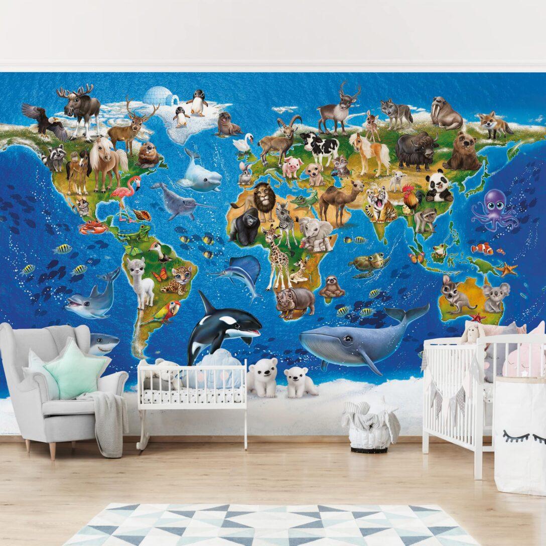 Large Size of Wandbild Kinderzimmer Tapete Selbstklebend Animal Club International Regal Weiß Sofa Wandbilder Wohnzimmer Regale Schlafzimmer Kinderzimmer Wandbild Kinderzimmer