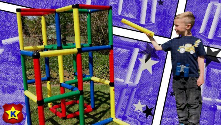 Medium Size of Kinderspielzeit Fynn Und Wyatt Bauen Mit Ihren Affen Ein Quadro Klettergerüst Garten Wohnzimmer Quadro Klettergerüst