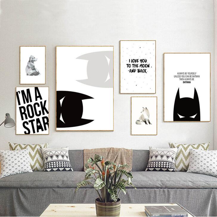 Medium Size of Wandbild Cartoon Batman Inspirierend Zitat Leinwand Poster Wohnzimmer Regal Schlafzimmer Weiß Regale Sofa Kinderzimmer Wandbild Kinderzimmer