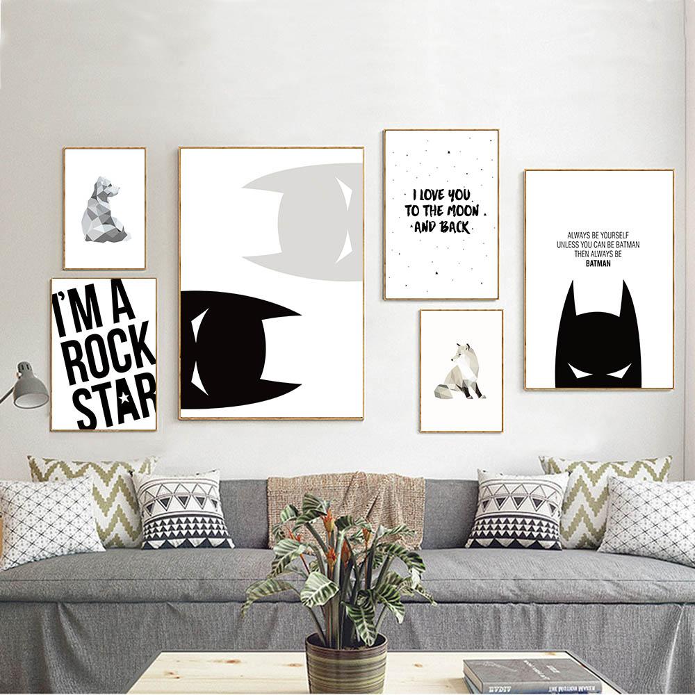 Full Size of Wandbild Cartoon Batman Inspirierend Zitat Leinwand Poster Wohnzimmer Regal Schlafzimmer Weiß Regale Sofa Kinderzimmer Wandbild Kinderzimmer