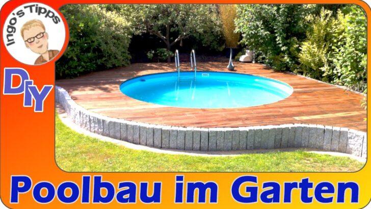 Medium Size of Pool Gartengestaltung Garten Rund Einbau Rundbecken Terrasse Kosten Beispiele Mit Pinterest 3m Kaufen Aufblasbar Bilder Eckig Intex Klein Bauen Stahlwandpool Wohnzimmer Pool Garten