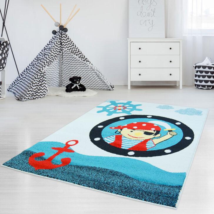 Medium Size of Teppiche Kinderzimmer Teppich Mit Piratenmuster Moda Kids 2030 Blau Flachflor Regal Weiß Regale Wohnzimmer Sofa Kinderzimmer Teppiche Kinderzimmer