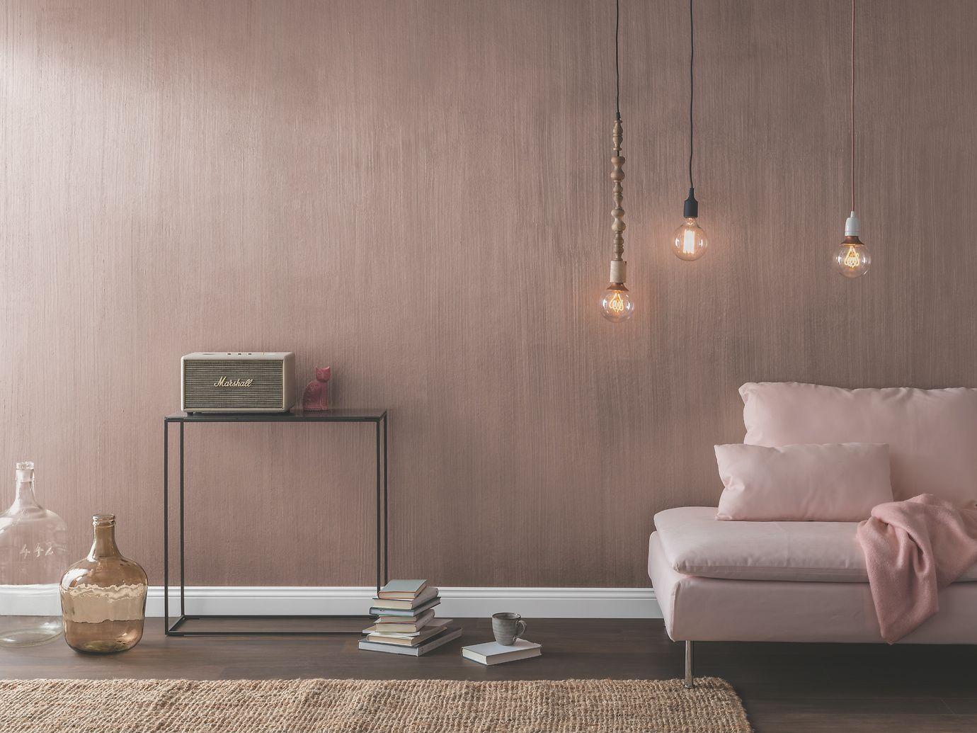 Full Size of Moderne Wandfarben Eine Wand In Dieser Rosgoldenen Effektfarbe Verleiht Jedem Zimmer Landhausküche Duschen Bilder Fürs Wohnzimmer Esstische Modernes Bett Wohnzimmer Moderne Wandfarben