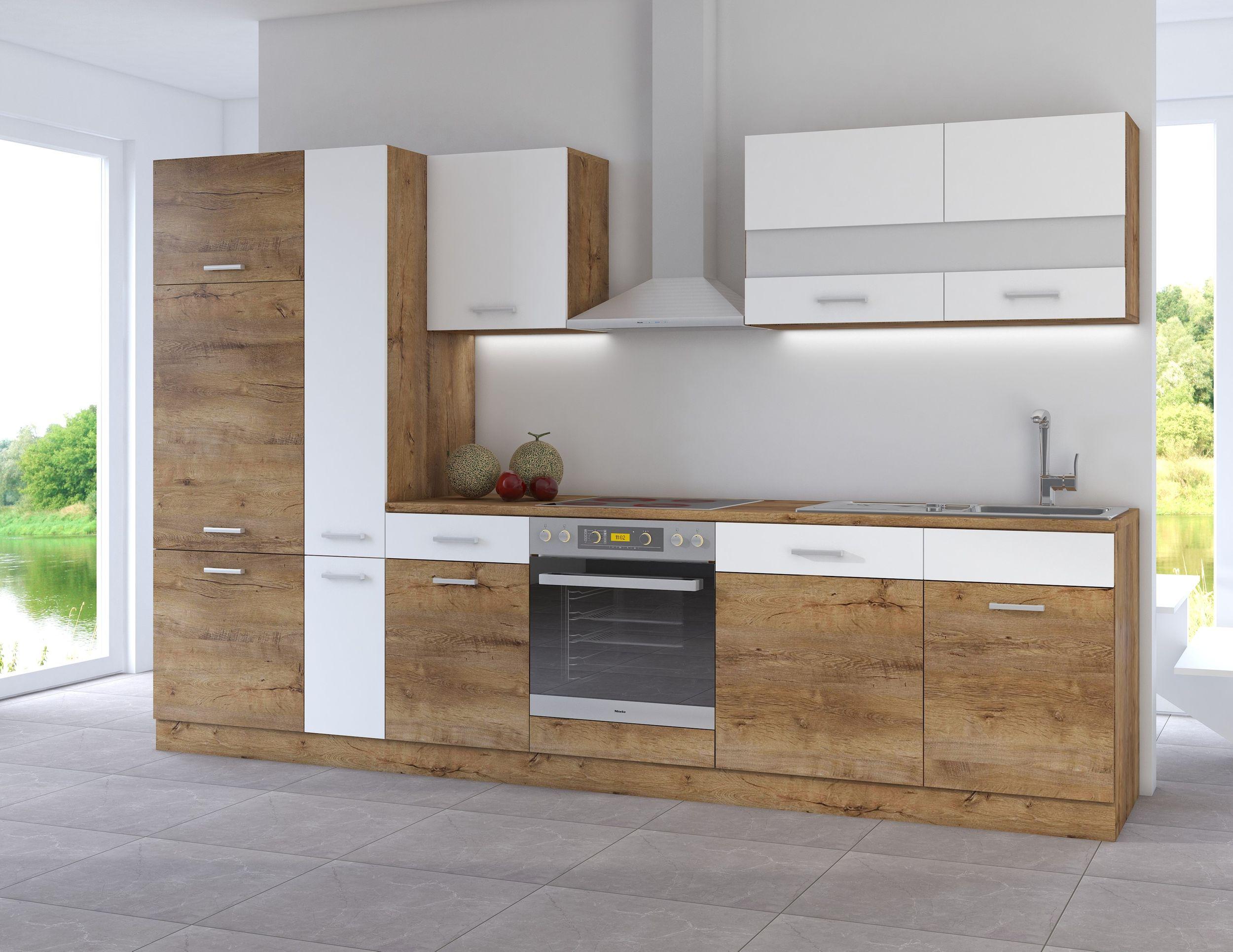 Full Size of Küchen Kche Cora Ii 310 Kchenzeile Kchenblock Einbaukche Eiche Regal Wohnzimmer Küchen