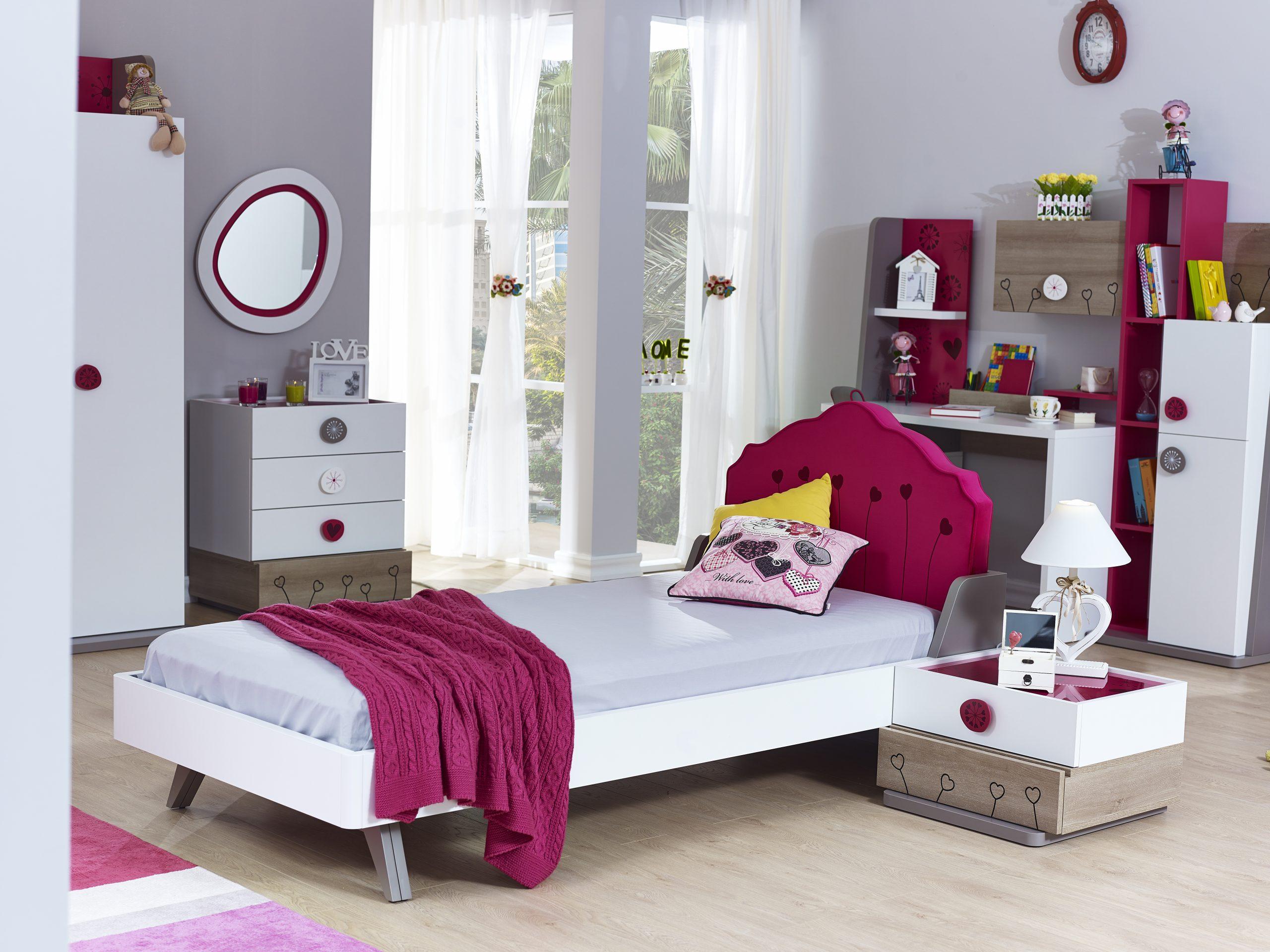 Full Size of Kinderbett In Wei Pink Sweety Weich Gepolstert 120x200 Cm 010224u2 Bett Weiß Mit Matratze Und Lattenrost Betten Bettkasten Wohnzimmer Kinderbett 120x200