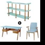 Schreibtisch Regal Kombination Regalaufsatz Kombi Mit Selber Bauen Ikea Regalsystem Regalwand Integriert Galdem Retro Stuhl Und Esche Blau Designer Regale Regal Schreibtisch Regal