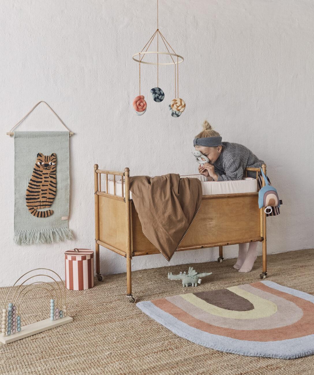 Large Size of Kinderzimmer Wanddeko Oyoy Wandteppich Tiger Softmint Karamell 32x70cm Regal Küche Sofa Weiß Regale Kinderzimmer Kinderzimmer Wanddeko