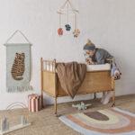 Kinderzimmer Wanddeko Oyoy Wandteppich Tiger Softmint Karamell 32x70cm Regal Küche Sofa Weiß Regale Kinderzimmer Kinderzimmer Wanddeko