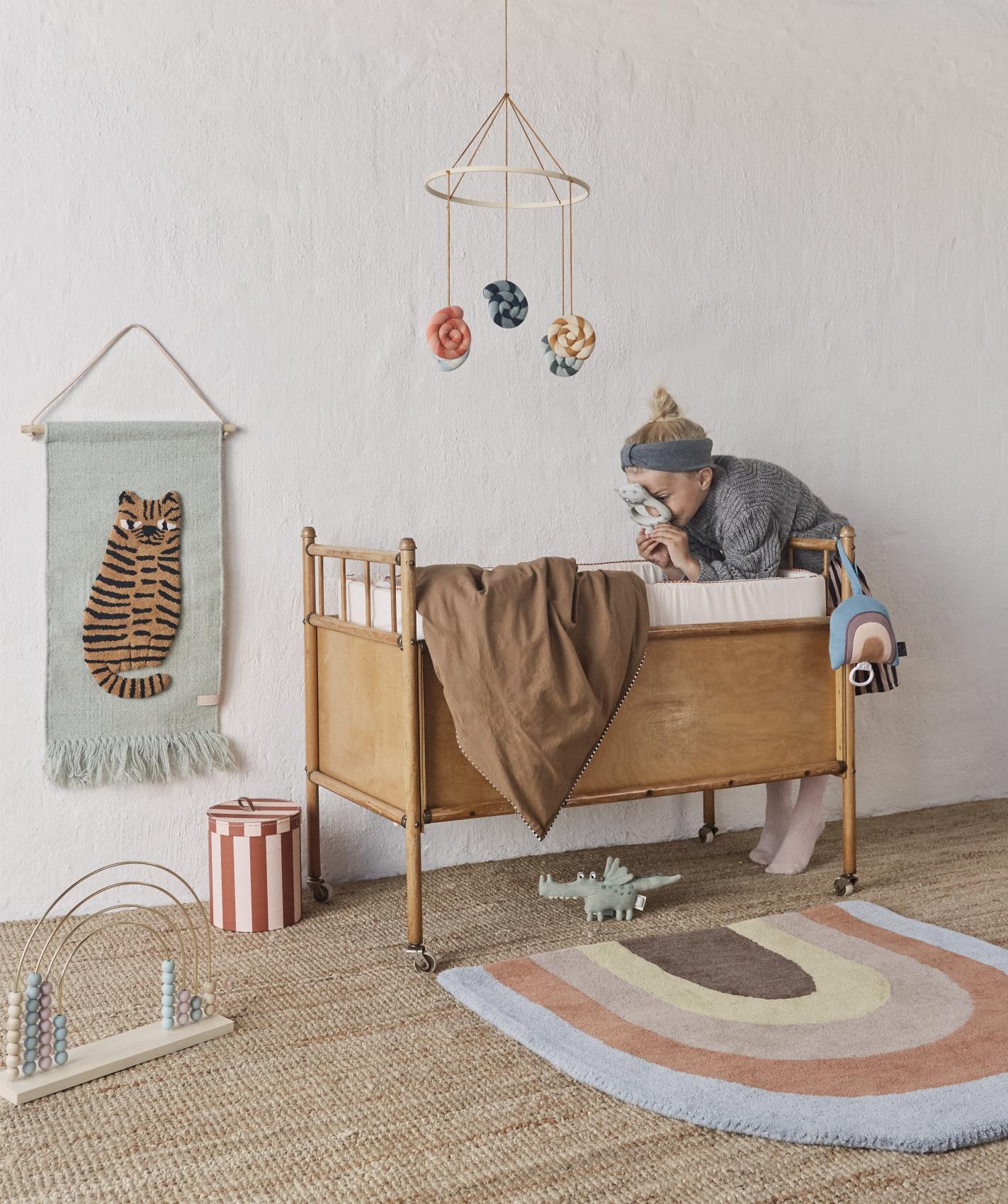 Full Size of Kinderzimmer Wanddeko Oyoy Wandteppich Tiger Softmint Karamell 32x70cm Regal Küche Sofa Weiß Regale Kinderzimmer Kinderzimmer Wanddeko