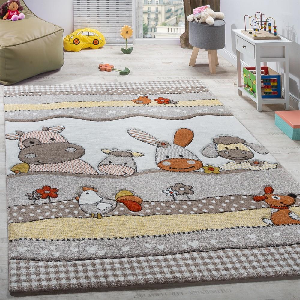 Full Size of Teppiche Kinderzimmer Kinderteppich Bauernhof Tiere Teppichcenter24 Sofa Regal Weiß Regale Wohnzimmer Kinderzimmer Teppiche Kinderzimmer