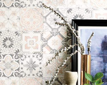 Küchentapete Wohnzimmer Moderne Kchentapete Isalie Grau In Zarter Fliesenoptik