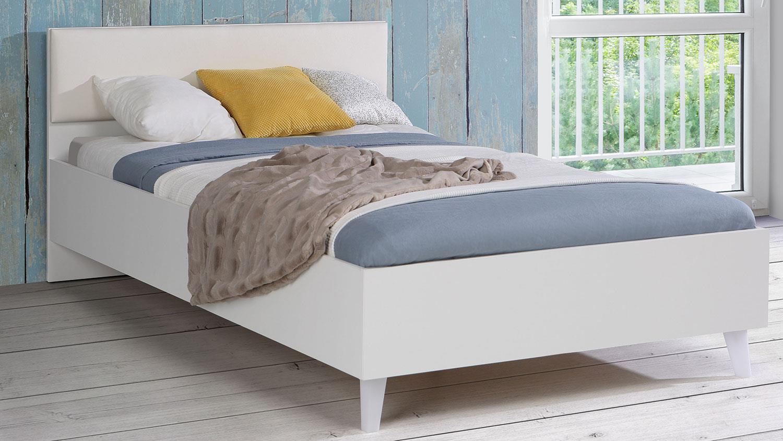 Full Size of Bett Yerodin Jugendbett In Wei Mit Led Beinen 120x200 Weiß Betten Bettkasten Matratze Und Lattenrost Wohnzimmer Kinderbett 120x200