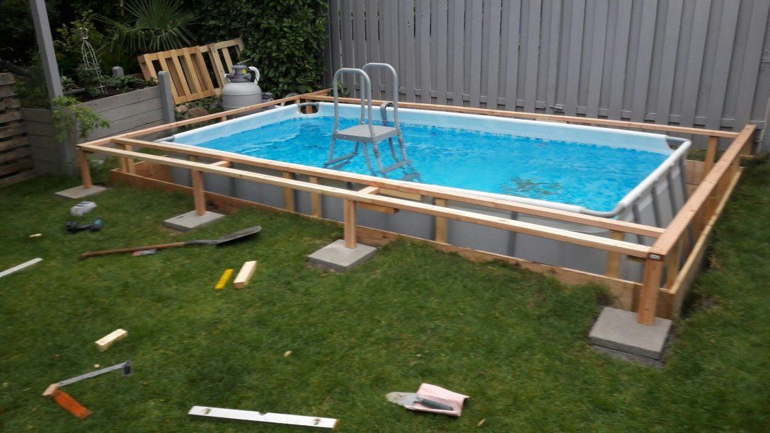Large Size of Gartenpool Rechteckig Mit Sandfilteranlage Bestway Intex Holz 3m Garten Pool Kaufen Obi Pumpe Pin Auf Diy Wohnzimmer Gartenpool Rechteckig