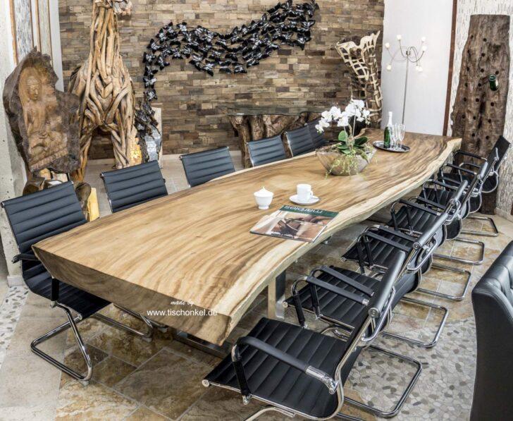 Medium Size of Esstisch Konferenztisch Aus Einer Bohle 400 Cm Der Tischonkel Weiß Oval Wildeiche Teppich Esstische Ausziehbar Akazie Mit 4 Stühlen Günstig Grau Massiv Holz Esstische Massiver Esstisch
