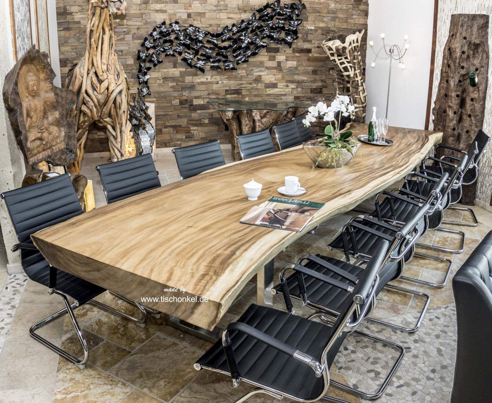 Full Size of Esstisch Konferenztisch Aus Einer Bohle 400 Cm Der Tischonkel Weiß Oval Wildeiche Teppich Esstische Ausziehbar Akazie Mit 4 Stühlen Günstig Grau Massiv Holz Esstische Massiver Esstisch