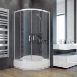 Glasabtrennung Dusche Duschkabine Transparentes Glas 90x90 Cm R55 165 Modern Begehbare Fliesen Bodengleiche Duschen Einbauen Schulte Komplett Set Nachträglich Dusche Glasabtrennung Dusche