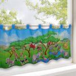 Scheibengardinen Kinderzimmer Scheibengardine Tiersafari Regal Sofa Regale Küche Weiß Kinderzimmer Scheibengardinen Kinderzimmer