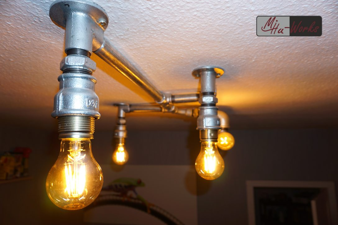Large Size of Deckenlampe Selber Bauen Design Aus Rohren Industrial Lighting Mihu Boxspring Bett Schlafzimmer Bodengleiche Dusche Nachträglich Einbauen Wohnzimmer Wohnzimmer Deckenlampe Selber Bauen