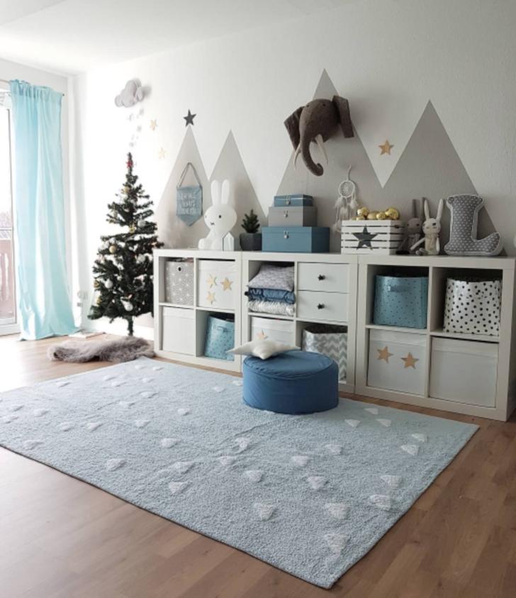 Medium Size of Waschbarer Kinderteppich Inka Triangles Hellblau In 2020 Kinder Sofa Kinderzimmer Regal Regale Weiß Kinderzimmer Kinderzimmer Einrichtung