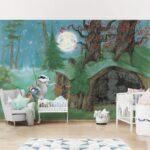 Fototapeten Kinderzimmer Kinderzimmer Selbstklebende Tapete Kinderzimmer Wassili Auf Dem Heimweg Regal Fototapeten Wohnzimmer Weiß Sofa Regale