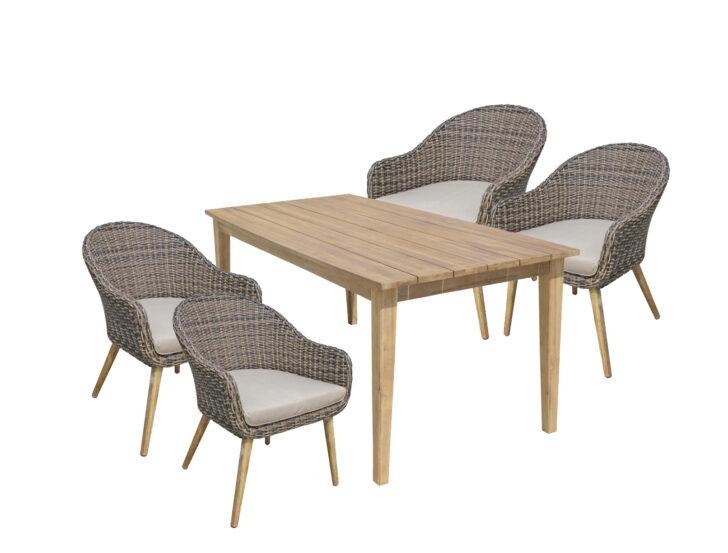 Medium Size of Esstisch Stühle 9tlg Garten Tischgruppe Stuhl Sthle Akazie Rattan Optik 120x80 Bogenlampe Runder Ausziehbar Weiß Runde Esstische Ovaler Pendelleuchte Esstische Esstisch Stühle