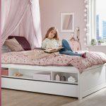 Kinderbett 120x200 Wohnzimmer Lifetime Stauraumbett Aus Massiver Kiefer 120x200 Cm Original Bett Mit Bettkasten Matratze Und Lattenrost Weiß Betten