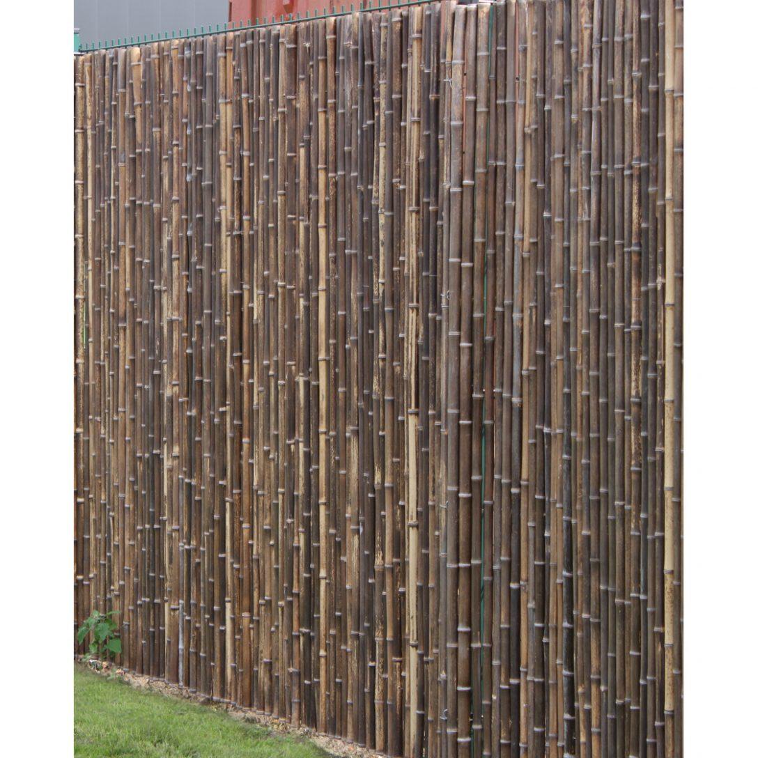 Large Size of Paravent Terrasse Robuster Bambus Holz Sicht Schutz Zaun Aty Nigra Von De Commerce Garten Wohnzimmer Paravent Terrasse