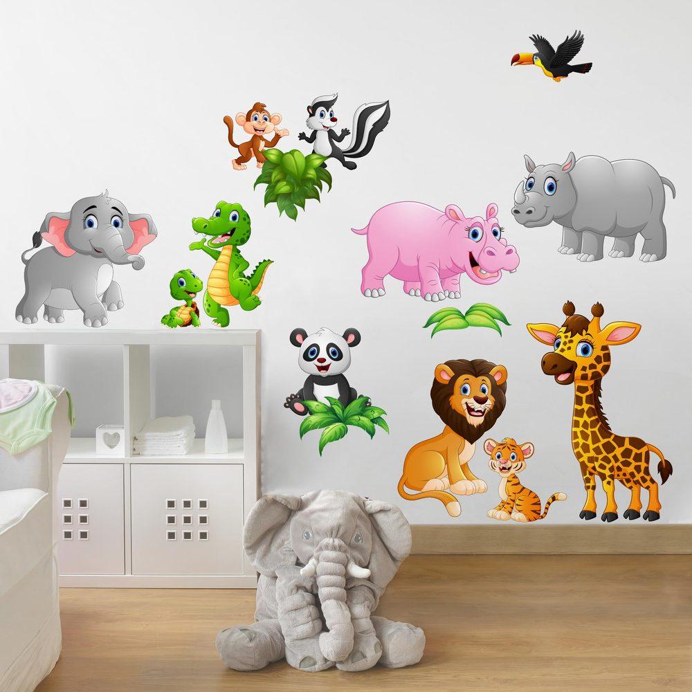 Full Size of Wandtattoo Kinderzimmer Tiere Des Dschungels Rakuten Wandsticker Küche Sofa Regal Weiß Regale Kinderzimmer Wandsticker Kinderzimmer Junge