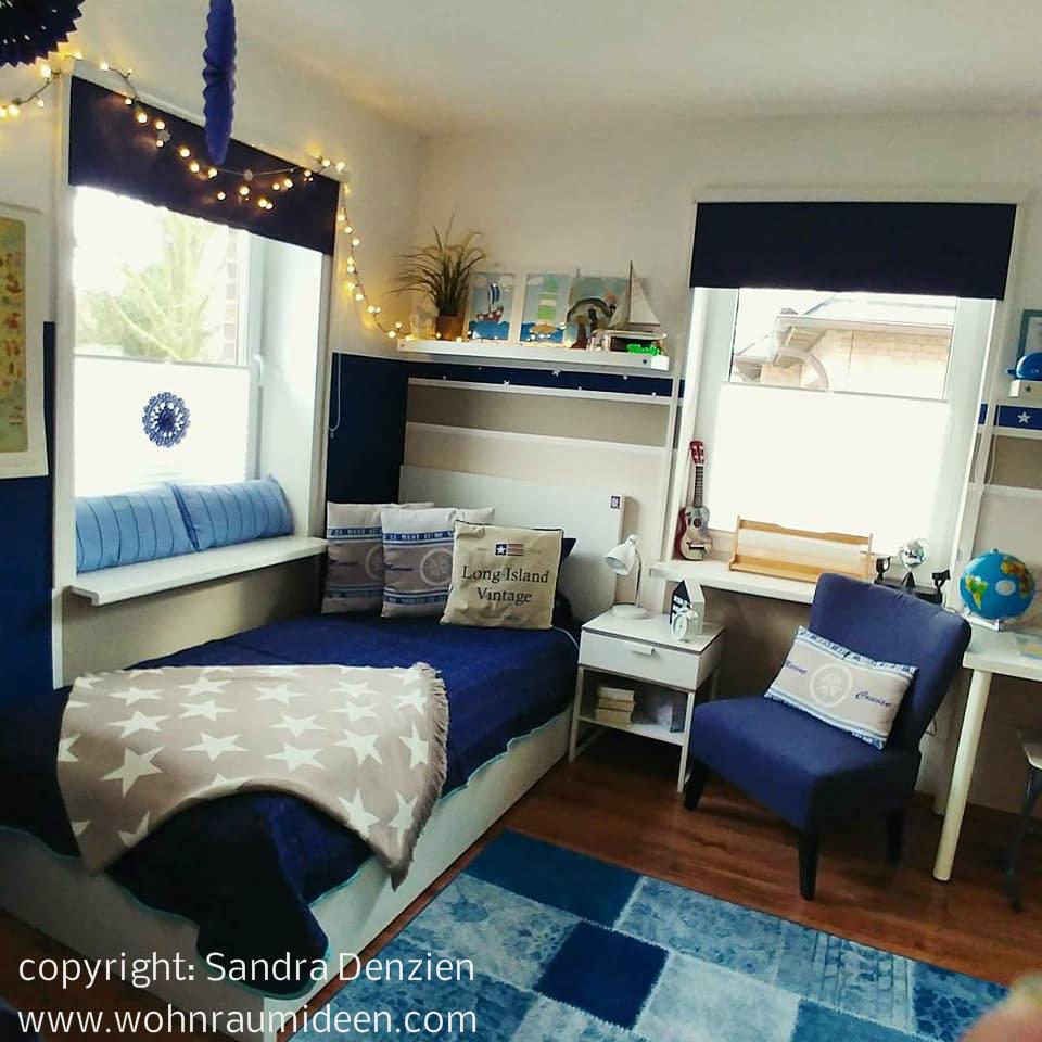Full Size of Einrichtung Kinderzimmer Jungenzimmer Im Marine Look Regale Regal Weiß Sofa Kinderzimmer Einrichtung Kinderzimmer