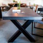 Esstisch Betonplatte Esstische Esstisch Betonplatte Oval Stühle Rustikal Holz Großer Bank Kaufen Rund Ausziehbar Eiche Vintage