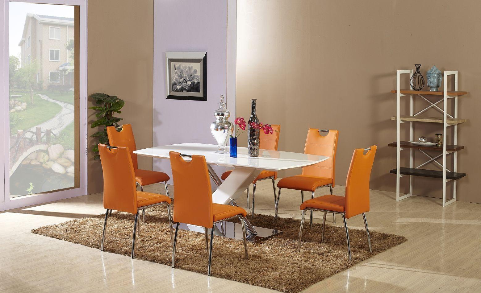 Full Size of Esstisch Stühle Set Bambari A26 Inkl 6 Sthle Orange 160 90 L B Pendelleuchte Modern Runder Ausziehbar Bogenlampe Esstischstühle Mit Bank Sheesham Moderne Esstische Esstisch Stühle