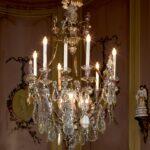 Hängelampen Kronleuchter Mit Behang Aus Glas 9 Kerzen Und 3 Hngelampen Wohnzimmer Hängelampen
