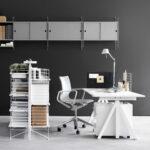 Regal Schreibtisch Kombi Mit Selber Bauen Ikea Integriertem Klappbar Integriert Kombination Regalaufsatz Works Von String Connox Schubladen Bett Metall Wand Regal Regal Schreibtisch