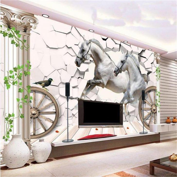 Medium Size of Mural Foto 3d Tapete Wohnzimmer Pferd Stein Heizkörper Tisch Sessel Lampe Schrankwand Anbauwand Kamin Stehlampe Hängeschrank Vorhänge Beleuchtung Teppich Wohnzimmer Vliestapete Wohnzimmer