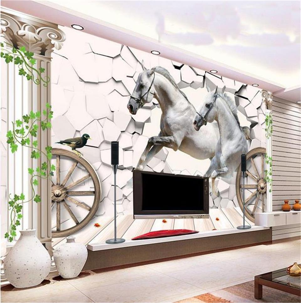 Full Size of Mural Foto 3d Tapete Wohnzimmer Pferd Stein Heizkörper Tisch Sessel Lampe Schrankwand Anbauwand Kamin Stehlampe Hängeschrank Vorhänge Beleuchtung Teppich Wohnzimmer Vliestapete Wohnzimmer