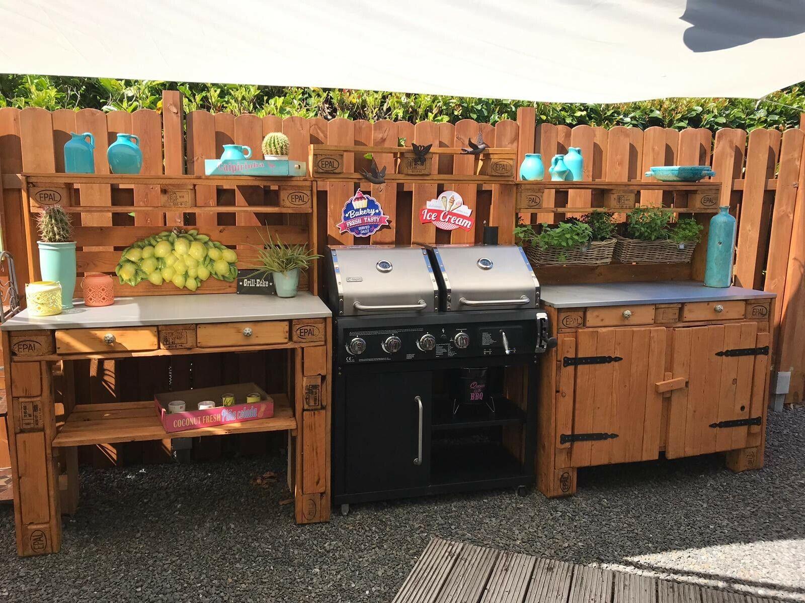 Full Size of Outdoor Küche Kche Aus Europaletten Ebay Obi Einbauküche Einzelschränke Lüftung L Mit Elektrogeräten Sideboard Hochglanz Salamander Rustikal Wohnzimmer Outdoor Küche