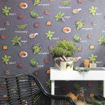 Kchen Tapete Rasch Kruter Schiefer Anthrazit Grn 930900 Modulare Küche Was Kostet Eine Wandsticker Glasbilder Ikea Miniküche Hängeschränke Kleine L Form Wohnzimmer Küche Tapete